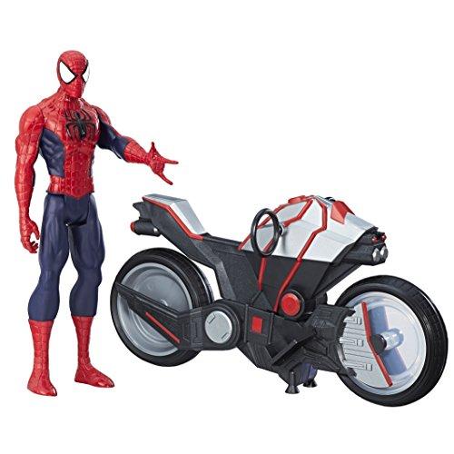 Marvel Spiderman - Figura Spiderman, con vehículo (Hasbro B9767EU4)
