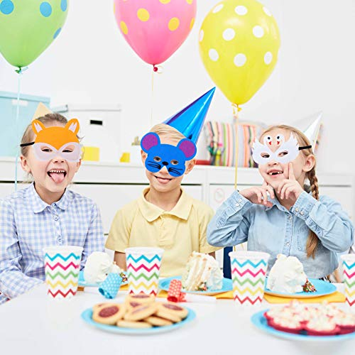 Máscaras de Animal de Fieltro para Niños con Cuerda Elástica Máscaras de Ojos para Cosplay Fiesta Halloween Navidad 18 Piezas