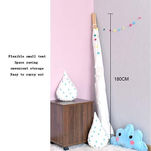 MCLJR Carpa de los niños, 100% algodón Natural de la Lona con Ventana, no tóxico y cómodo, Plegable Playhouse para Interior y Exterior, Adecuado para niños (47,2 * 47,2 * 62,9 Pulgadas),Azul