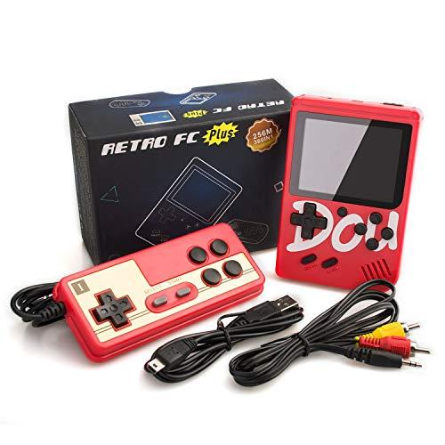 MERIT OCEAN Consola de Juegos Portátil, 3 Pulgadas Pantalla HD Consola de Juegos Retro con 360 Juegos Salida de TV Jugador del Juego Consola de Juegos clásica para Regalo de Niños Niñas (Rojo)