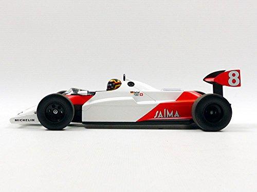 Minichamps 537831898–MC-Laren MP4/1C–bellof Test Silverstone noviembre 1983–Escala 1/18–Blanco/Rojo Fluo