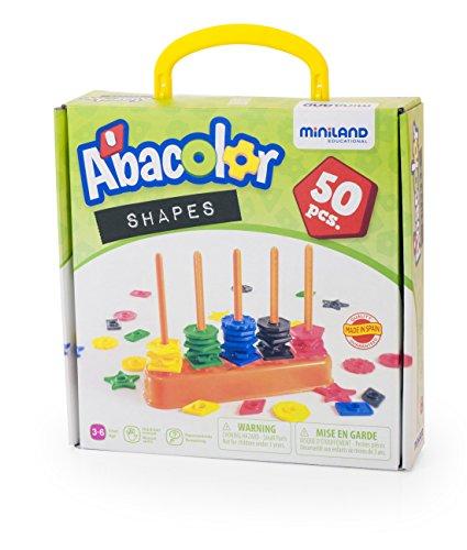 Miniland Ábaco Formas y Colores (45310) , Modelos/colores Surtidos, 1 Unidad