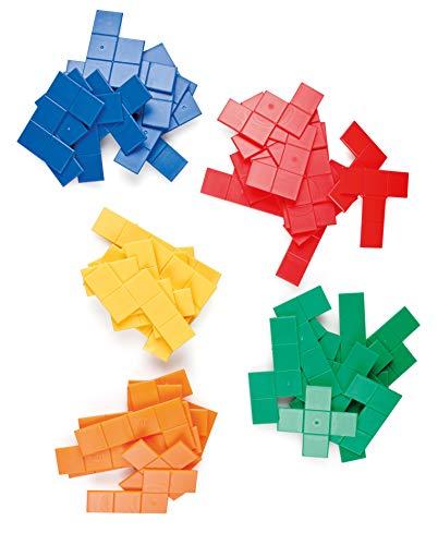 Miniland- Set de 5 pentónimos Pentóminos para Juegos matemáticos, Multicolor (95219)