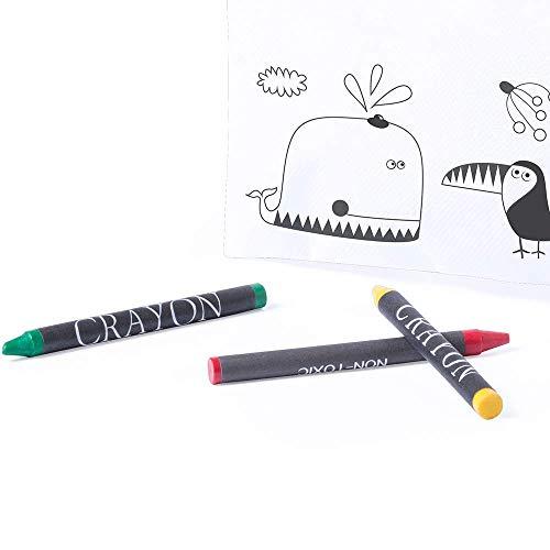 MIRVEN Lote de 30 Estuches para Colorear con 5 Pinturas de Cera Incluidas Cada Cumpleaños, Fiestas de Colegios,comuniones, niños Bodas.