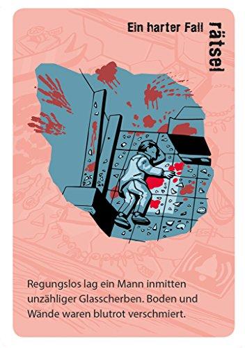moses Juego de Cartas Black Stories Junior Red Stories en alemán, 50Casos Criminales complicados para ingeniosos Detectives, desafíos para niños