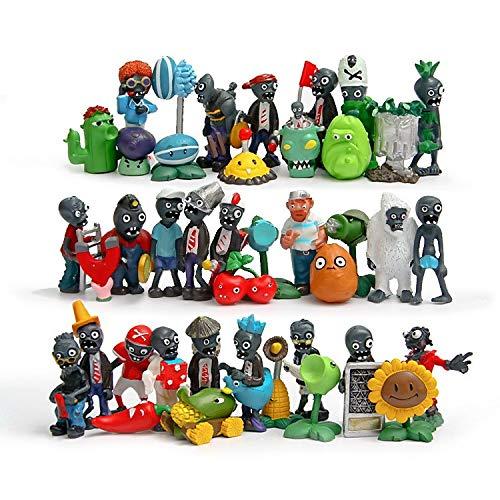 MSC Toy Lote Figuras Plants VS Zombies 40 Unidades 3-7cm / 40 Figures Set PlantsVsZombies