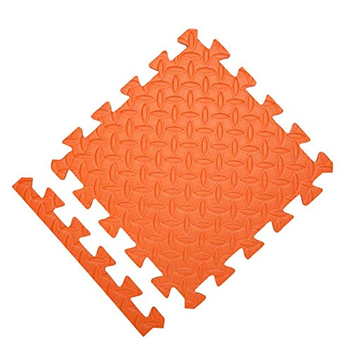 MWPO EVA Soft Foam Kids Play Area Mat Playmats Multicolor Splice Interlocking Tiles, 4 Colores (Color: Naranja, tamaño: 60x60x1cm-16pcs)