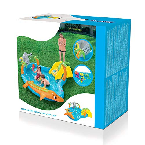 MZYKA Verano de los niños Inflable Océano Pabellón Piscina para Agua con aspersores, Océano Bola de Jugar al Juego de la Piscina, para Patio Beach Garden Park Cabañas, Azul