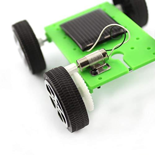 Ndier Auto-Montaje de Coche Solar Conjunto de Juguete como el Ministerio de Educación Ciencia para Niños Estudiantes (Azul) 1PCS