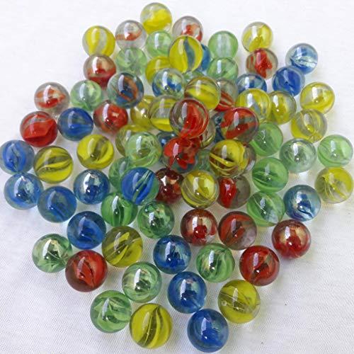 Neez Mármoles, Mármoles de Vidrio, Bolas de Cristal, Perlas de Vidrio con Dibujos de Colores para Niños 40/50/100/200/400 Piezas (Pack de 200 canicas)