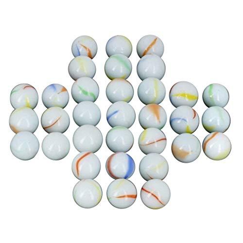 Neez Mármoles, Mármoles de Vidrio, Bolas de Cristal, Perlas de Vidrio con Dibujos de Colores para Niños 40/50/100/200/400 Piezas (Pack de 40 canicas)
