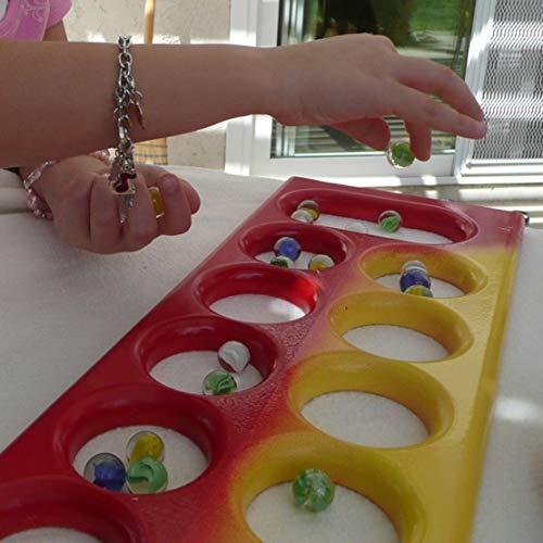 NEEZ Mármoles, Mármoles de Vidrio, Bolas de Cristal, Perlas de Vidrio con Dibujos de Colores para Niños 40/50/100/200/400 Piezas (Paquete de 50 Canicas)