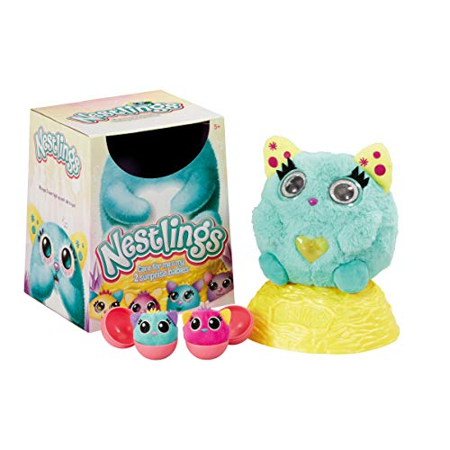 Nestlings Interactive Pet Babies with Lights and Sounds Teal Series 1, Color Verde Azulado. (Vivid Imaginations 51201)
