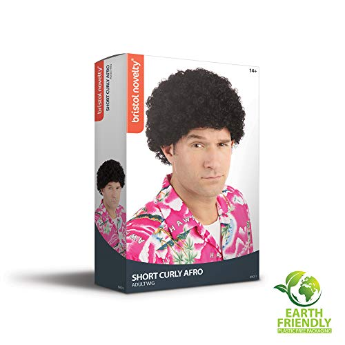 NEW BLACK TIGHT CURL AFRO WIG JACKO STYLE UNISEX (peluca)