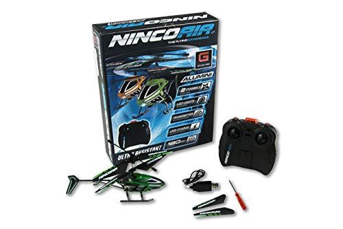 Ninco- Nincoair Mini Whip Helicoptero teledirigido de iniciación, Color verde (NH90099)