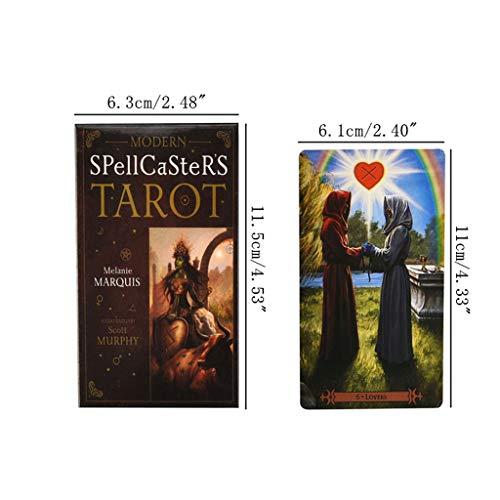 niumanery 78pcs Modern Spellcaster's Tarot Full English Tarot Cards Deck Family Board Game