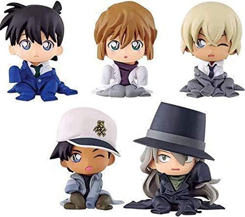 No Anime Modelo Figura Kits Detective Conan PVC Figura Juego de Roles Juguetes Coleccionista Adorno Muñeca Personajes Regalo Recuerdo Excelente Set de Regalo para niños 5