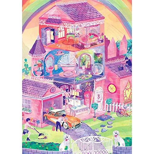 No band Puzzle de la Familia del Juguete del Juego, Creativo Fairy Tale Mundial de Puzzles de Dibujos Animados Animado 300/500/1000 Piezas de descompresión Rompecabezas 508 ( Size : 300pc )