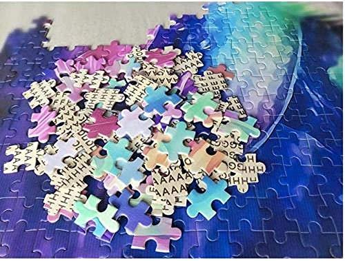 nobrand Puzzle 1000 Piezas Rompecabezas de Madera de 1000 Piezas, Tractor bajo Tierra agrícola bajo Las Nubes Juego de Adultos para niños DIY-70X50cm