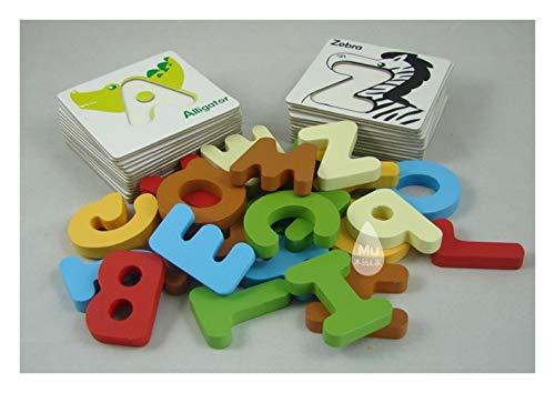 Nologo Safe Juguetes educativos Animales del Alfabeto de Madera Tarjeta gráfica del Conocimiento buscador de Rompecabezas de la Primera Infancia