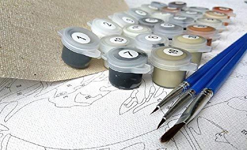 none_branded DIY Digital Lienzo Pintura Al Óleo Regalo para Adultos Niños Pintura Arquitectura Romana por Numero Kits Decoración del Hogar 16 * 20 Pulgadas Sin Marco