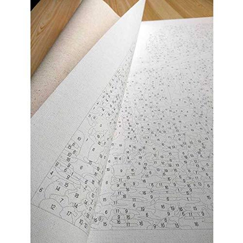 NR Paint by Numbers Kits Decoración Regalos Little Town In The Sunset Arte de la Pared Obra de Arte Pintura 40x50cm Sin Marco