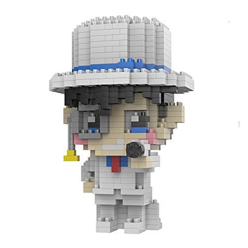 OLMME Mini Bloques de Construcción para Niños Mayores de 8 Años DIY Detective Conan Micro Ladrillos Asamblea Toy Fun Kid 3D Toy Educationl Game, 3 Tipos(Size:# 1)