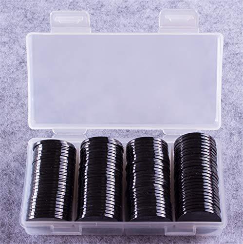 Onsinic 100 Piezas de 25 mm de plástico Fichas de Poker Bingo Marcadores para la diversión Familiar Club de Carnaval Bingo Juego de Mesa SuppliesColors con la Caja de plástico