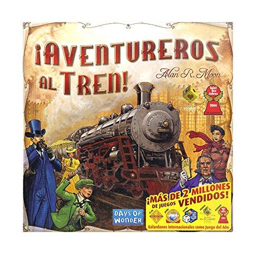 Outletdelocio. Juego de mesa Aventureros Al Tren. Version Original. Edicion Española