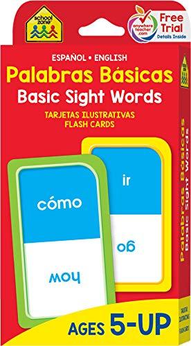 Palabras Basicas - 54 Tarjetas ilustrativas, Español y Inglés, 5+