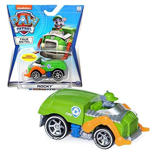 PAW PATROL Mini vehículos | Patrulla Canina | True Metal 1:55 | Die-Cast Classic Series, Figura:Rocky