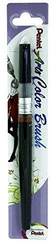 Pentel Color Brush - Pincel recargable, color negro