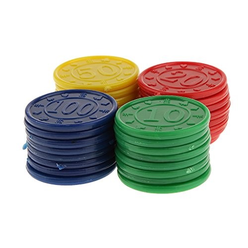 perfeclan 128 Fichas De Póquer Numeradas De Color Sólido De Casino 31mm Azul Rojo Verde Amarillo