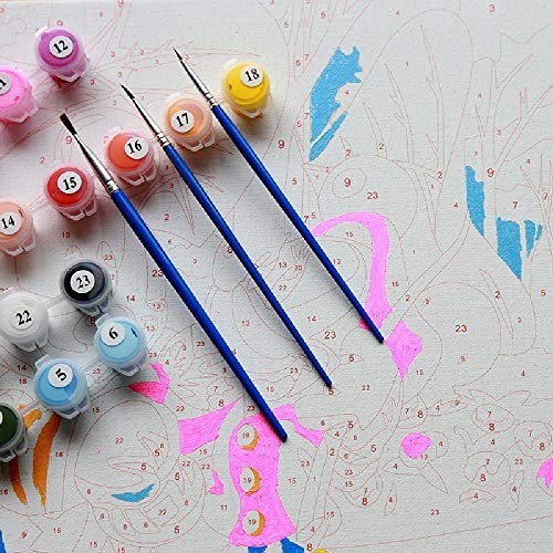 Pintar por NúMeros para Adultos Y NiñOs Kits De Regalo De Pintura Al óLeo DIY Arte De Lienzo Preimpreso DecoracióN del Hogar Amanecer Altiplano Horizonte Cielo