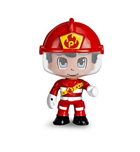 Pinypon Action- Moto de bombero con 1 figura, para niños y niñas a partir de 4 a 8 años, (Famosa 700015636)