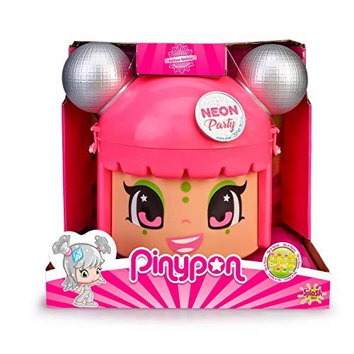 Pinypon Mix & Match Neon Party - Contenedor con 5 Figuras exclusivas, de 4 a 8 años (Famosa 700015210)