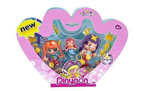 Pinypon - Pack de 3 Figuras Pirata y Sirenitas (Famosa 700013366)