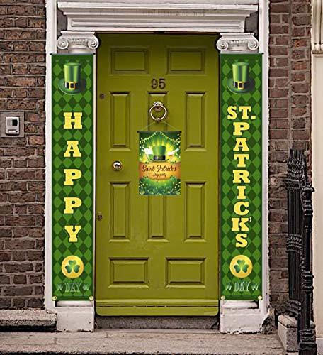PIXHOTUL St. Patrick's Day Pancartas Decoraciones, Cartel del Porche del día de San Patricio Cartel Colgante de Bienvenida del Trébol para el Adorno Casero del Partido Irlandés