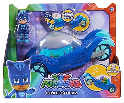 PJ Masks Vehículo Deluxe gatauto y gatuno, Color Azul (Just Play 24621)
