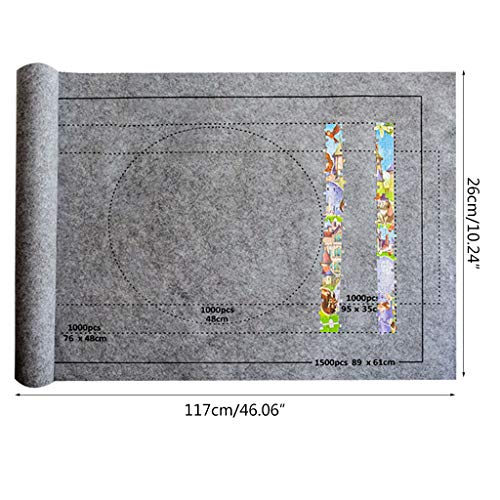 planuuik Jigsaw Puzzle Felt Mat Roll Play Manta para hasta 1500 Piezas Rompecabezas Accesorios de Viaje