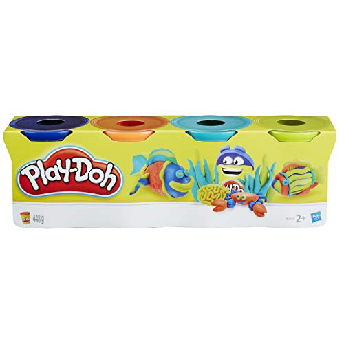 Play-Doh-B6510 Pack 4 Botes (Hasbro B5517) , color/modelo surtido