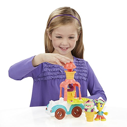 Play Doh - Camión de Helados con Botes de plastilina (Hasbro B3417EU4)
