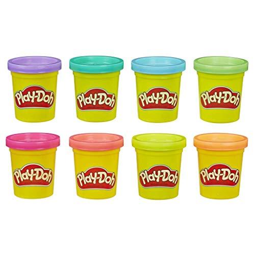 Play-Doh, color surtido, Pack 8 Botes (Hasbro E5044EU4)