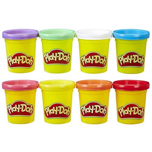Play-Doh- Pack de 8 botes Arco Iris (Hasbro A7923EU6), Multicolor , color/modelo surtido