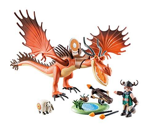 PLAYMOBIL DreamWorks Dragons Garfios y Patán Mocoso, A partir de 4 años (9459)