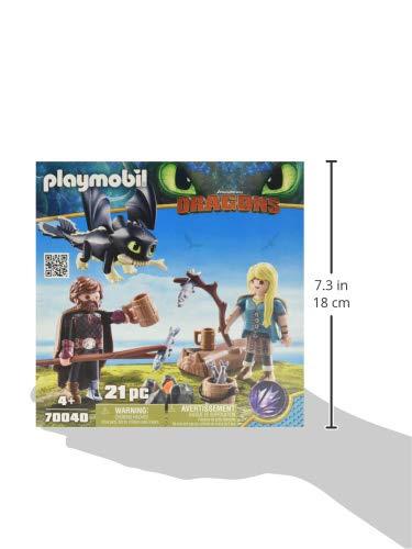 PLAYMOBIL- HIPO y Astrid con Bebé Dragón Juguete, Multicolor, 18.7 x 18.7 x 4.4 cm (geobra Brandstätter 70040)