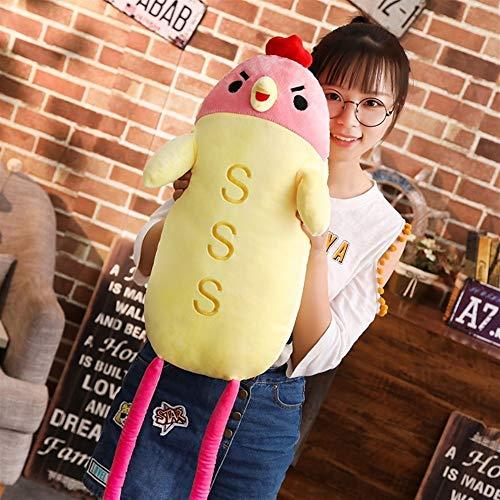 Polluelo de dibujos animados almohada Moda divertido juguete de felpa suave del juguete suave lindo regalo creativo amortiguador de la decoración de la personalidad juguetes de peluche Almohada suave