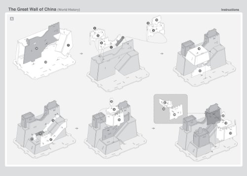 """POP Out World 3D Puzzle - World History Series """"The Great Wall of China - China"""""""