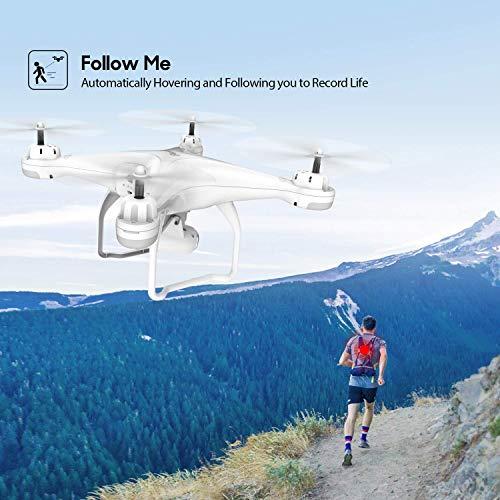 Potensic T25 GPS Drone, FPV RC Drone con Cámara 1080P HD WiFi Vídeo en Vivo, Retorno Automático a Casa, Control de Altitud, Sígueme, con 2 Baterías y Maletín