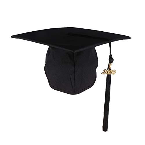 PRETYZOOM Sombrero de Graduación 2020 Gorra de Graduación Negra con Borla Gorra de Soltero de La Escuela Secundaria Suministros de Decoración de Fiesta de Graduación 2020